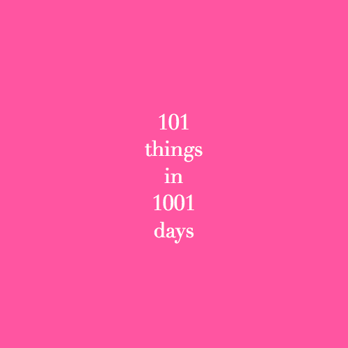 101+things+in+1001+days