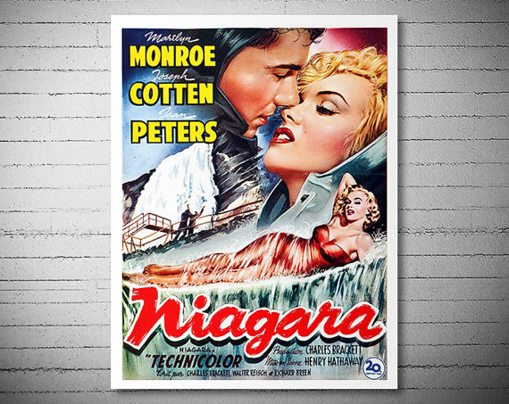 Marilyn Monroe - Niagara - Vintage Movie Poster