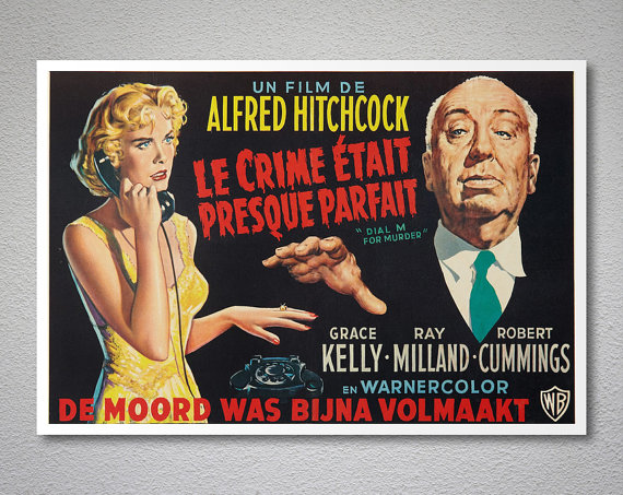 Le Crime Etait Presque Parfait, Grace Kelly Vintage Movie Poster