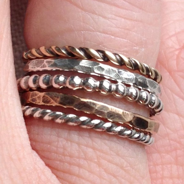 Amy Cromwell stacked ring set